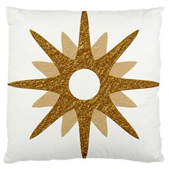 Star Golden Glittering Yellow Rays Large Cushion Case (two Sides) by Onesevenart