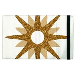 Star Golden Glittering Yellow Rays Apple Ipad 2 Flip Case by Onesevenart