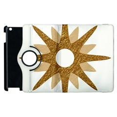 Star Golden Glittering Yellow Rays Apple Ipad 2 Flip 360 Case by Onesevenart
