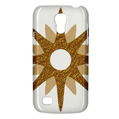 Star Golden Glittering Yellow Rays Galaxy S4 Mini by Onesevenart