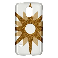 Star Golden Glittering Yellow Rays Galaxy S5 Mini by Onesevenart