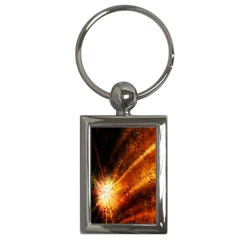 Star Sky Graphic Night Background Key Chains (rectangle)  by Onesevenart