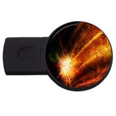 Star Sky Graphic Night Background Usb Flash Drive Round (4 Gb) by Onesevenart