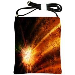 Star Sky Graphic Night Background Shoulder Sling Bags by Onesevenart