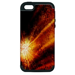 Star Sky Graphic Night Background Apple Iphone 5 Hardshell Case (pc+silicone) by Onesevenart