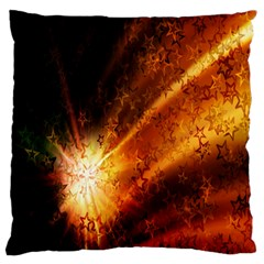 Star Sky Graphic Night Background Large Flano Cushion Case (two Sides) by Onesevenart