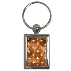 Stars Brown Background Shiny Key Chains (rectangle)  by Onesevenart