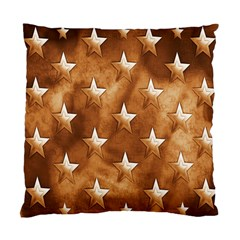 Stars Brown Background Shiny Standard Cushion Case (one Side) by Onesevenart