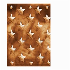 Stars Brown Background Shiny Small Garden Flag (two Sides) by Onesevenart