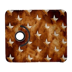 Stars Brown Background Shiny Galaxy S3 (flip/folio) by Onesevenart