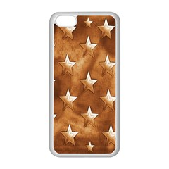 Stars Brown Background Shiny Apple Iphone 5c Seamless Case (white) by Onesevenart