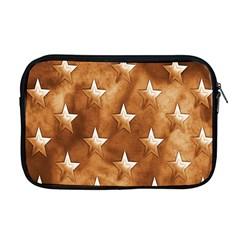 Stars Brown Background Shiny Apple Macbook Pro 17  Zipper Case by Onesevenart