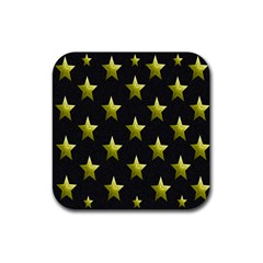 Stars Backgrounds Patterns Shapes Rubber Square Coaster (4 Pack)  by Onesevenart