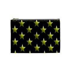 Stars Backgrounds Patterns Shapes Cosmetic Bag (medium)  by Onesevenart