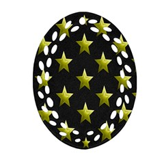 Stars Backgrounds Patterns Shapes Oval Filigree Ornament (two Sides) by Onesevenart