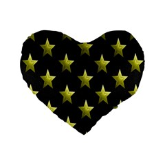 Stars Backgrounds Patterns Shapes Standard 16  Premium Flano Heart Shape Cushions by Onesevenart