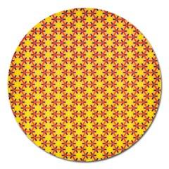 Texture Background Pattern Magnet 5  (round) by Onesevenart
