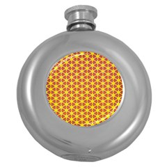 Texture Background Pattern Round Hip Flask (5 Oz) by Onesevenart