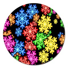 Wallpaper Background Abstract Magnet 5  (round) by Onesevenart