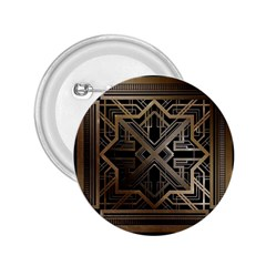 Gold Metallic And Black Art Deco 2 25  Buttons by 8fugoso