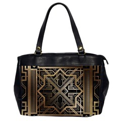 Gold Metallic And Black Art Deco Office Handbags (2 Sides)  by 8fugoso