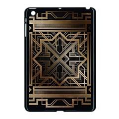 Gold Metallic And Black Art Deco Apple Ipad Mini Case (black) by 8fugoso