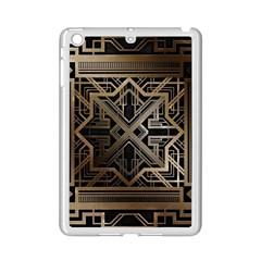 Gold Metallic And Black Art Deco Ipad Mini 2 Enamel Coated Cases by 8fugoso