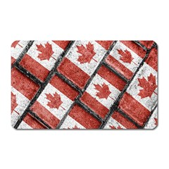 Canadian Flag Motif Pattern Magnet (rectangular) by dflcprints