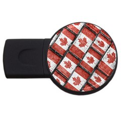 Canadian Flag Motif Pattern Usb Flash Drive Round (2 Gb) by dflcprints