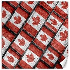 Canadian Flag Motif Pattern Canvas 20  X 20   by dflcprints