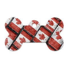 Canadian Flag Motif Pattern Dog Tag Bone (one Side) by dflcprints