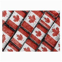 Canadian Flag Motif Pattern Large Glasses Cloth by dflcprints