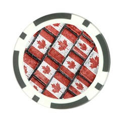 Canadian Flag Motif Pattern Poker Chip Card Guard by dflcprints