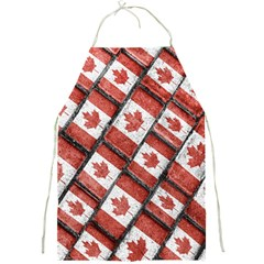 Canadian Flag Motif Pattern Full Print Aprons by dflcprints
