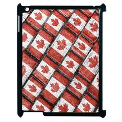 Canadian Flag Motif Pattern Apple Ipad 2 Case (black) by dflcprints