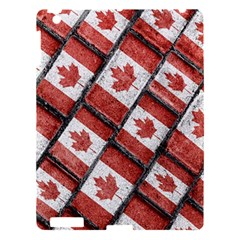 Canadian Flag Motif Pattern Apple Ipad 3/4 Hardshell Case by dflcprints