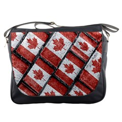Canadian Flag Motif Pattern Messenger Bags by dflcprints