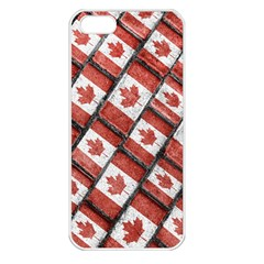 Canadian Flag Motif Pattern Apple Iphone 5 Seamless Case (white) by dflcprints
