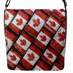 Canadian Flag Motif Pattern Flap Messenger Bag (s) by dflcprints