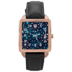 Wallpaper Background Abstract Rose Gold Leather Watch  by Onesevenart