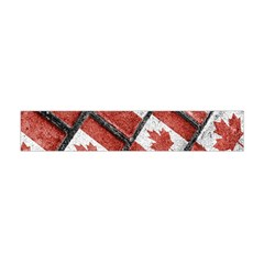 Canadian Flag Motif Pattern Flano Scarf (mini) by dflcprints