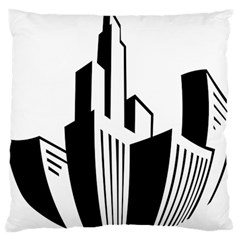 Tower City Town Building Black White Standard Flano Cushion Case (one Side) by Jojostore