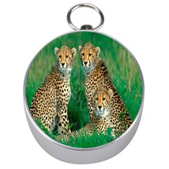 Animals Cheetah Silver Compasses by Jojostore