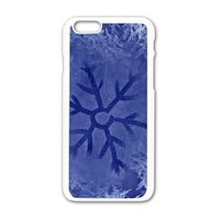 Winter Hardest Frost Cold Apple Iphone 6/6s White Enamel Case by Onesevenart