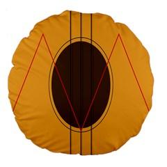 Guitar Picking Tool Line Tone Music Large 18  Premium Flano Round Cushions by Jojostore