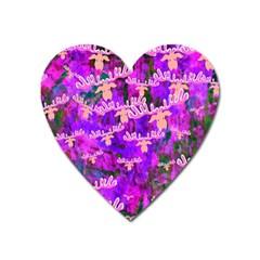 Watercolour Paint Dripping Ink Heart Magnet by Onesevenart