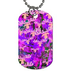 Watercolour Paint Dripping Ink Dog Tag (two Sides) by Onesevenart