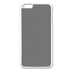 Black Polka Dots Line Plaid Apple Iphone 6 Plus/6s Plus Enamel White Case by Jojostore