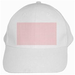 Red Line Plaid Vertical Horizon White Cap by Jojostore