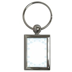 The Background Snow Snowflakes Key Chains (rectangle)  by Onesevenart